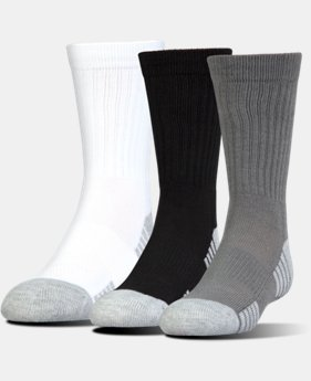 Best Seller UA HeatGear® Tech Crew Socks – 3-Pack  2 Colors $17