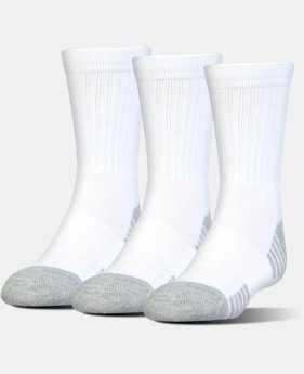 UA HeatGear® Tech Crew Socks – 3-Pack  3 Colors $17