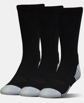 Kids' UA HeatGear® Tech Crew Socks – 3-Pack  1 Color $16