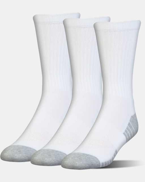 Kids' UA HeatGear® Tech Crew Socks - 3-Pack