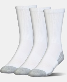 Kids' UA HeatGear® Tech Crew Socks – 3-Pack  2  Colors Available $16