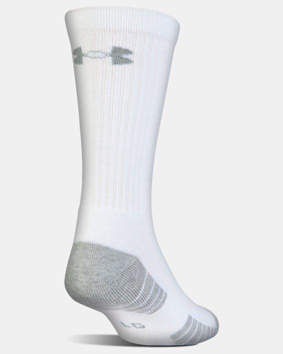 Kids' UA HeatGear® Tech Crew Socks - 3-Pack, White, pdpMainDesktop image number 3
