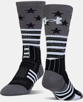 Best Seller Kids' UA Unrivaled Stars & Stripes Crew Socks  1  Color Available $13.99 to $14