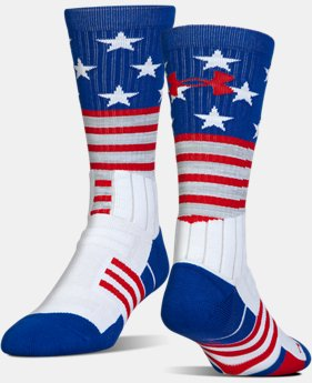 Best Seller Kids' UA Unrivaled Stars & Stripes Crew Socks  1  Color Available $14