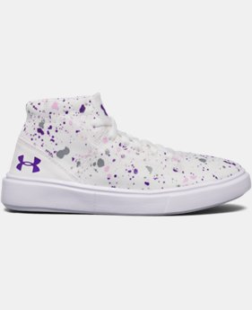 Girls' Pre-School UA KickIt2 Splatter Mid Lifestyle Shoes  1  Color Available $39.99