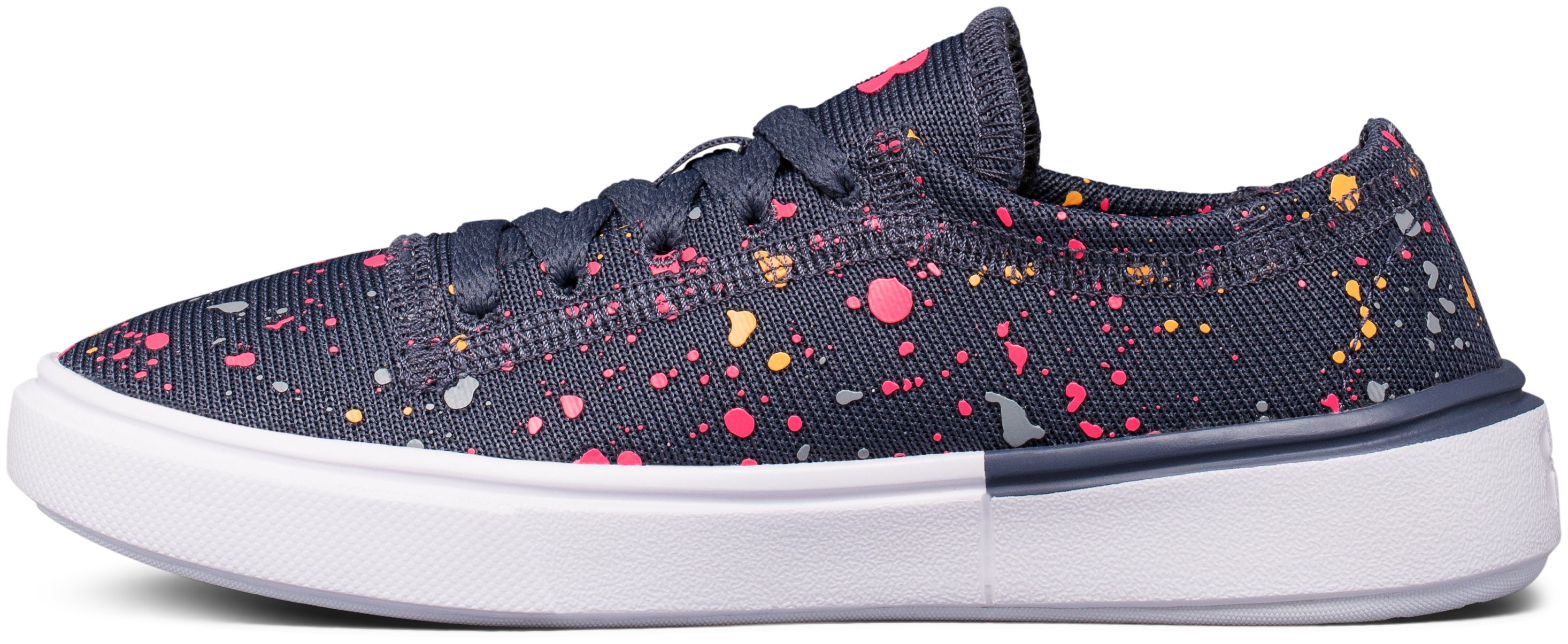 Girls' Pre-School UA KickIt2 Splatter Lifestyle Shoes, APOLLO GRAY, undefined