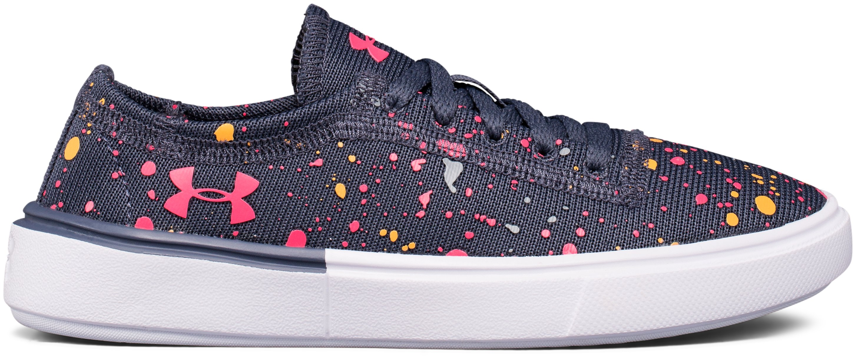 Girls' Pre-School UA KickIt2 Splatter Lifestyle Shoes, APOLLO GRAY