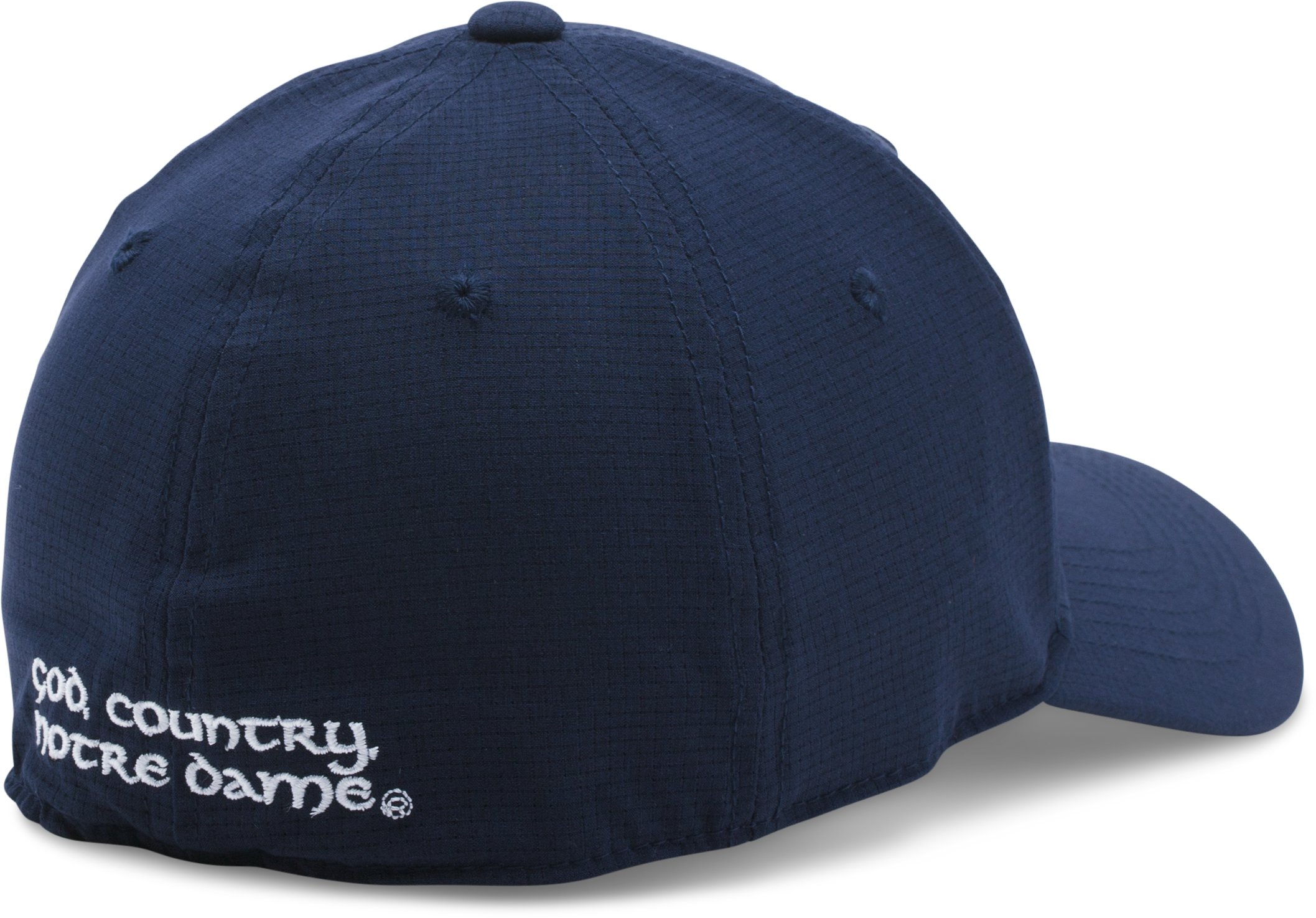 Men's Notre Dame ArmourVent™ Stretch Cap, Midnight Navy, undefined