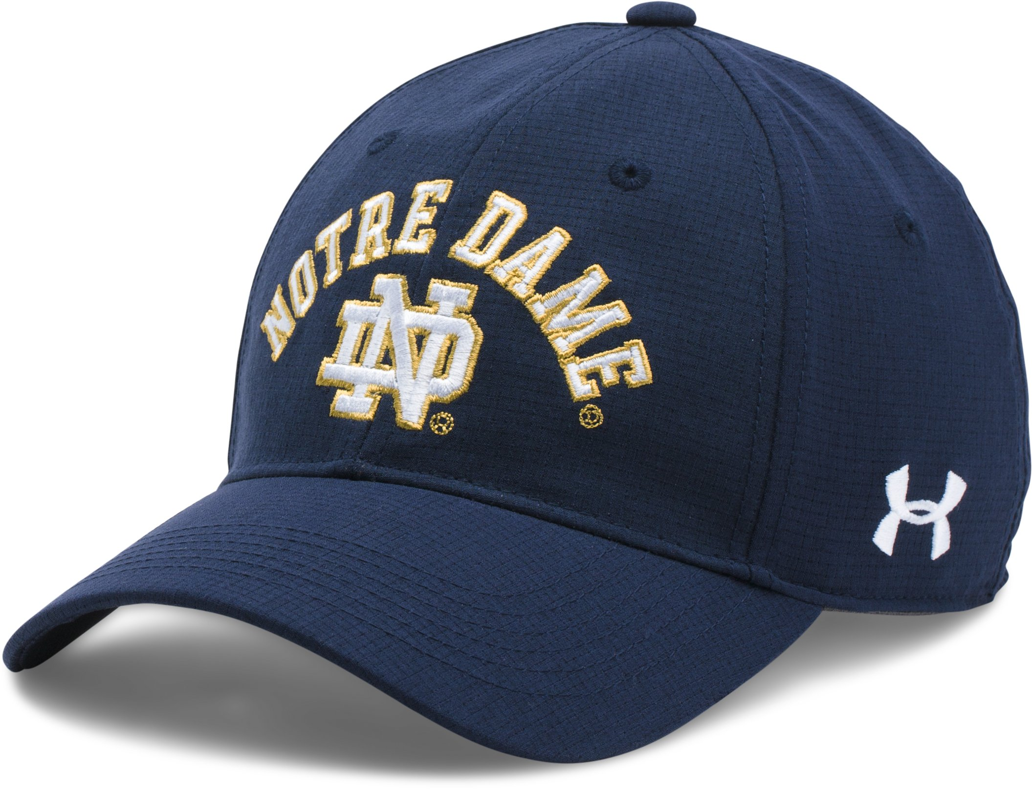 Men's Notre Dame ArmourVent™ Stretch Cap, Midnight Navy, zoomed image