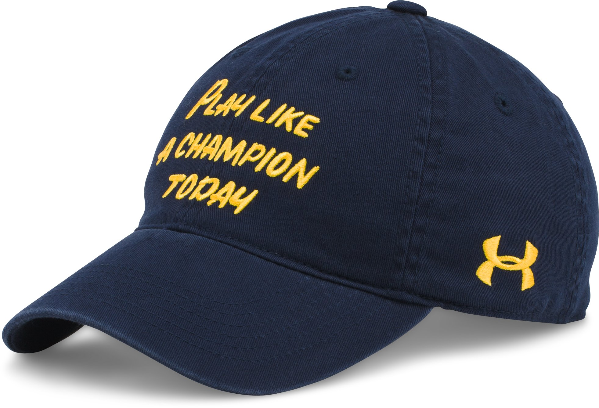 Men's Notre Dame UA Play Like A Champion Cap, Midnight Navy