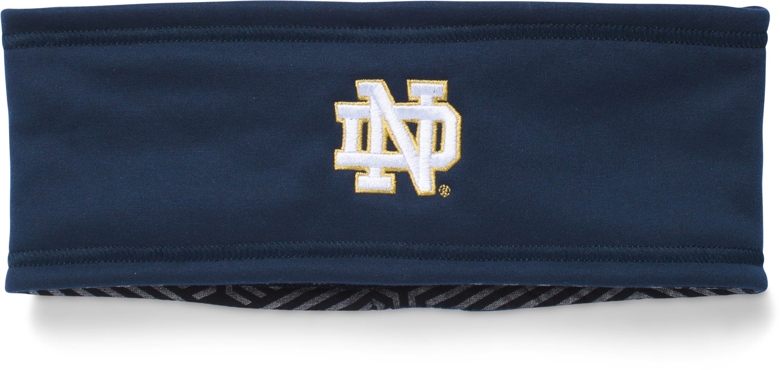 Men's Notre Dame ColdGear® Infrared Fleece Headband, Midnight Navy, undefined