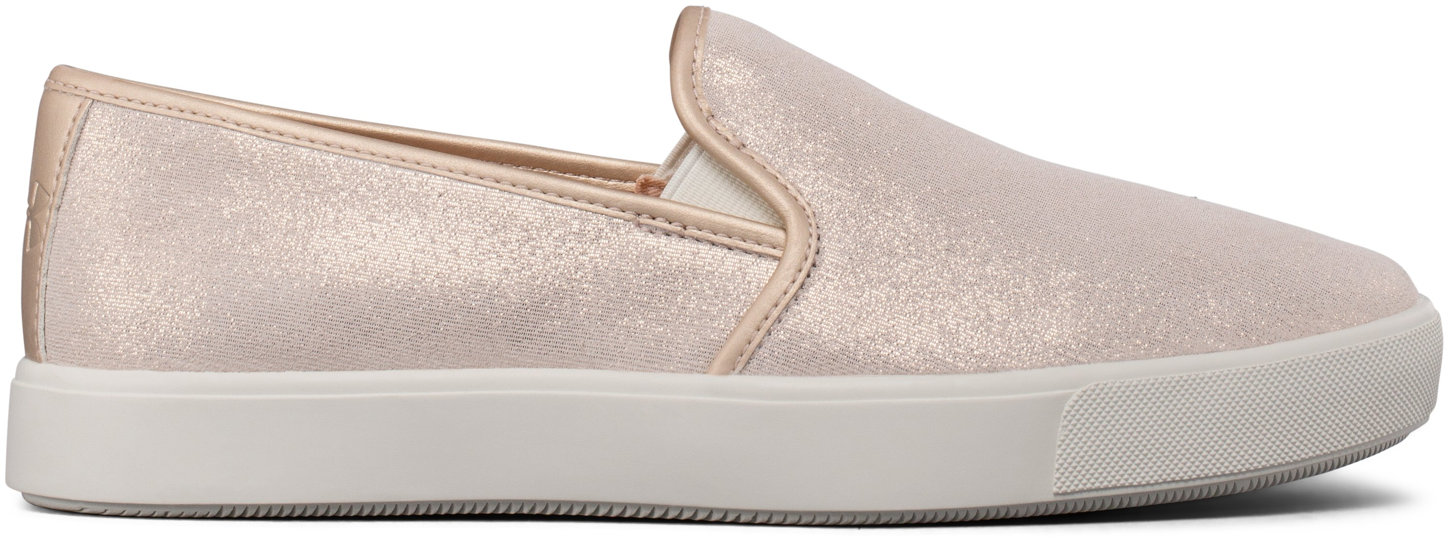 Women's UA DJ Suede Lifestyle Shoes, METALLIC FADED GOLD, zoomed image
