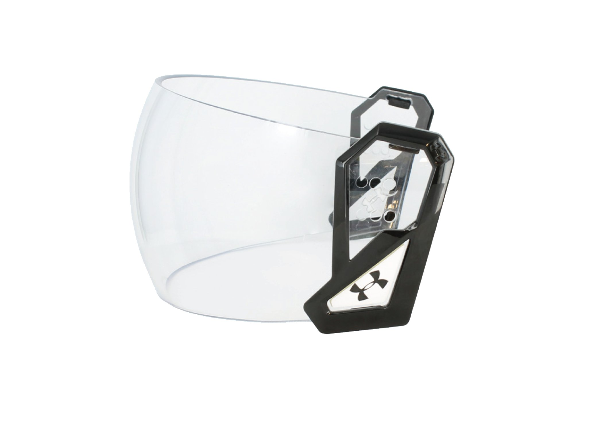 UA Storm Hockey Visor Clear Lens With Top Vent Mount, CRYSTAL BLACK, undefined