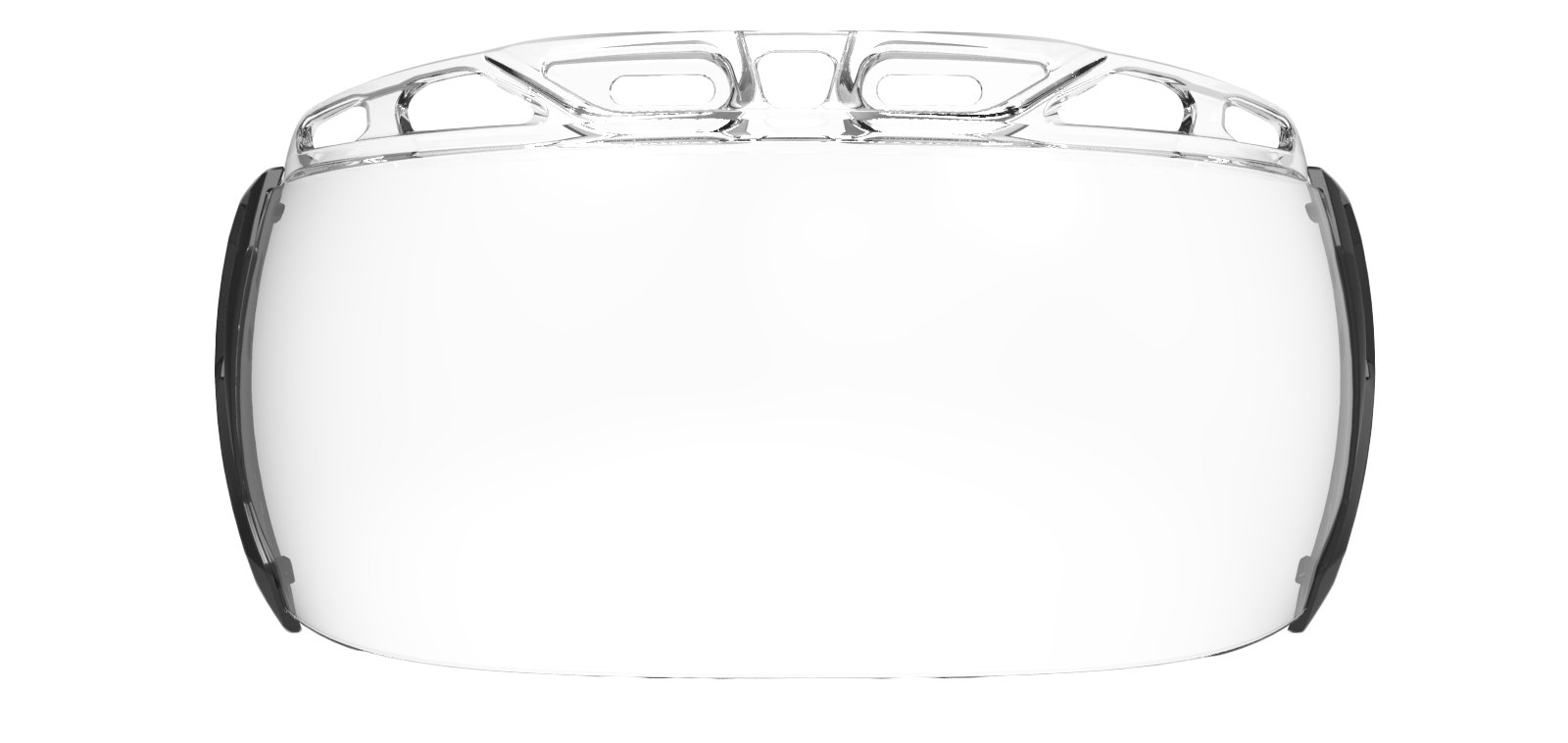 UA Storm Hockey Visor Clear Lens, CRYSTAL BLACK, undefined