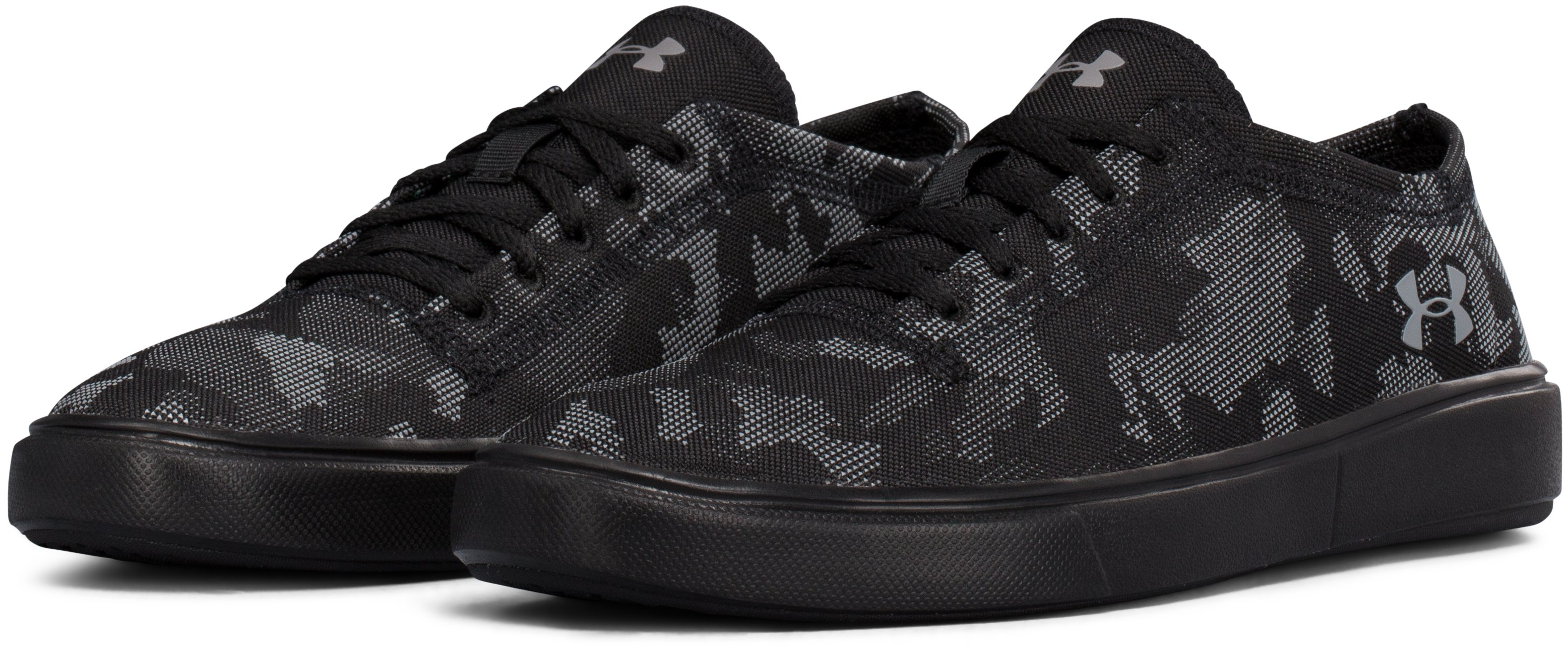 Boys' Grade School UA KickIt2 Low Utility Lifestyle Shoes, Black , undefined