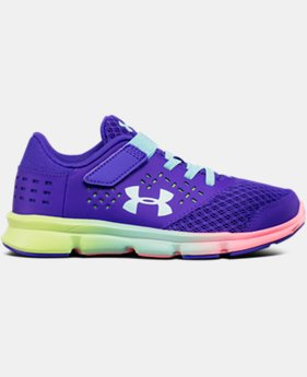 Girls' Pre-School UA Rave Prism Adjustable Closure Running Shoes LIMITED TIME OFFER 3 Colors $35.99