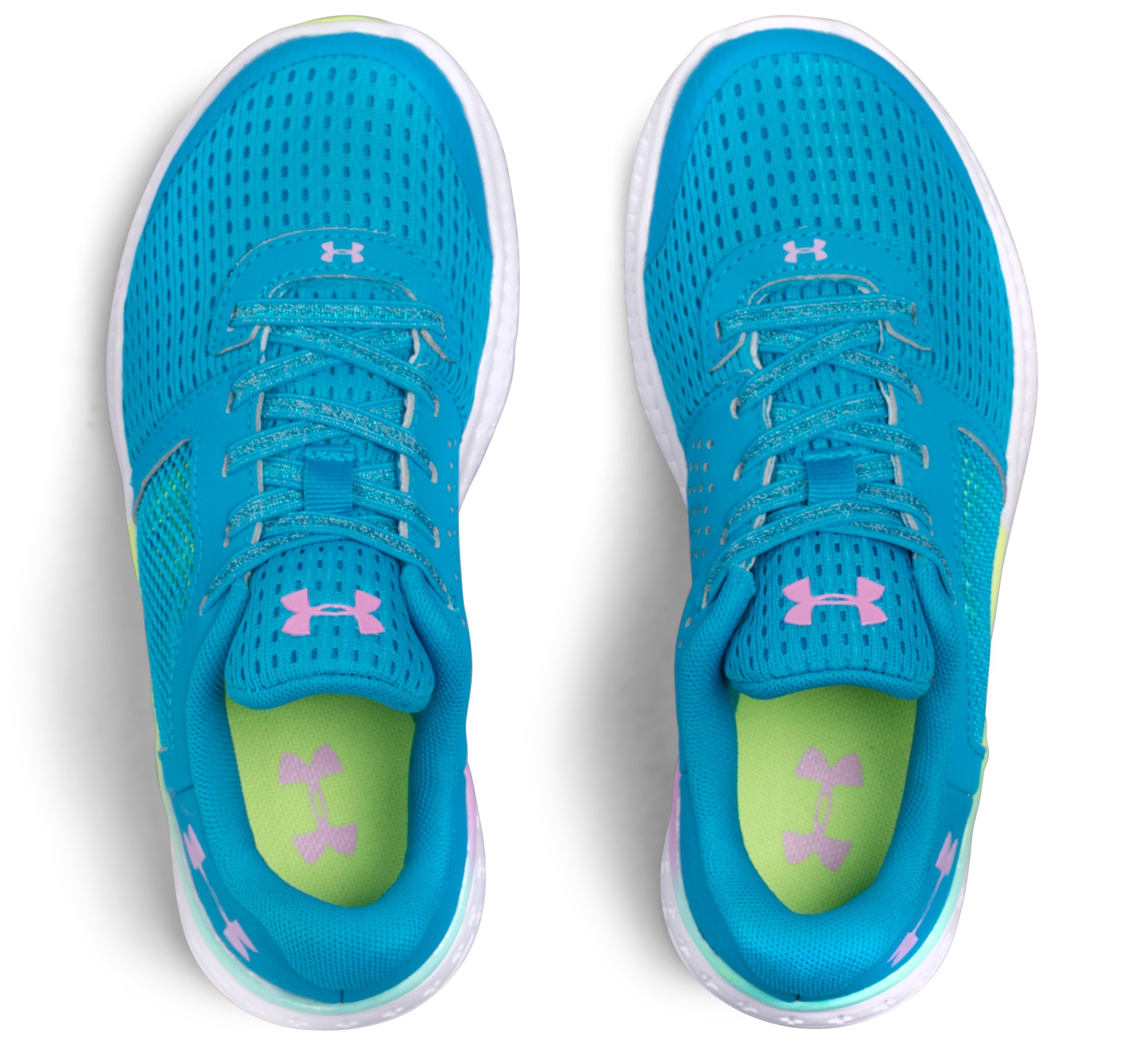 Girls' Pre-School UA Micro G® Fuel Prism Running Shoes, BLUE SHIFT,