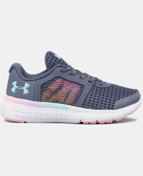New Arrival Girls' Pre-School UA Micro G® Fuel Prism Running Shoes  1 Color $43.49