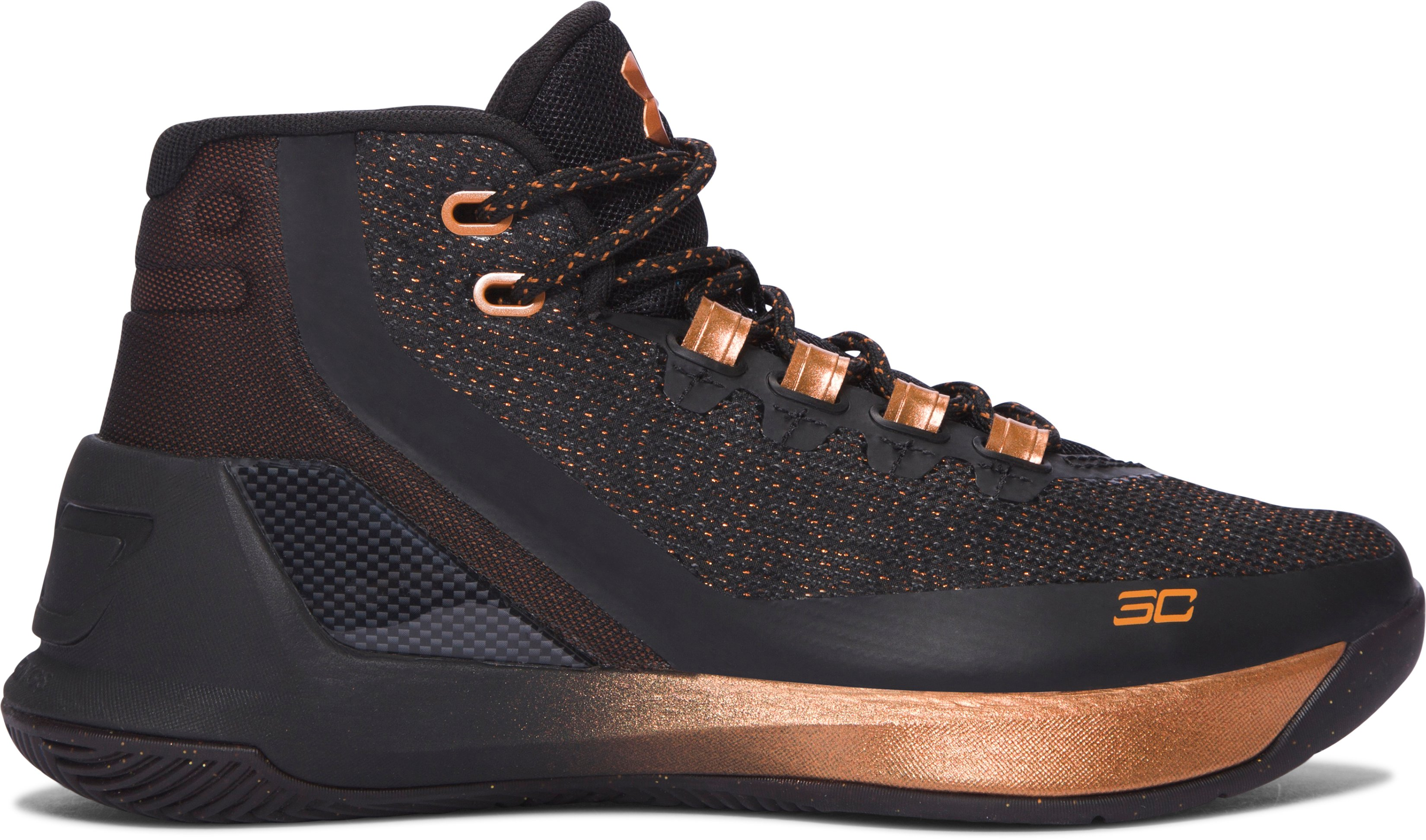 Boys' Grade School UA Curry 3 ASW Basketball Shoes, BRASS BAND, undefined