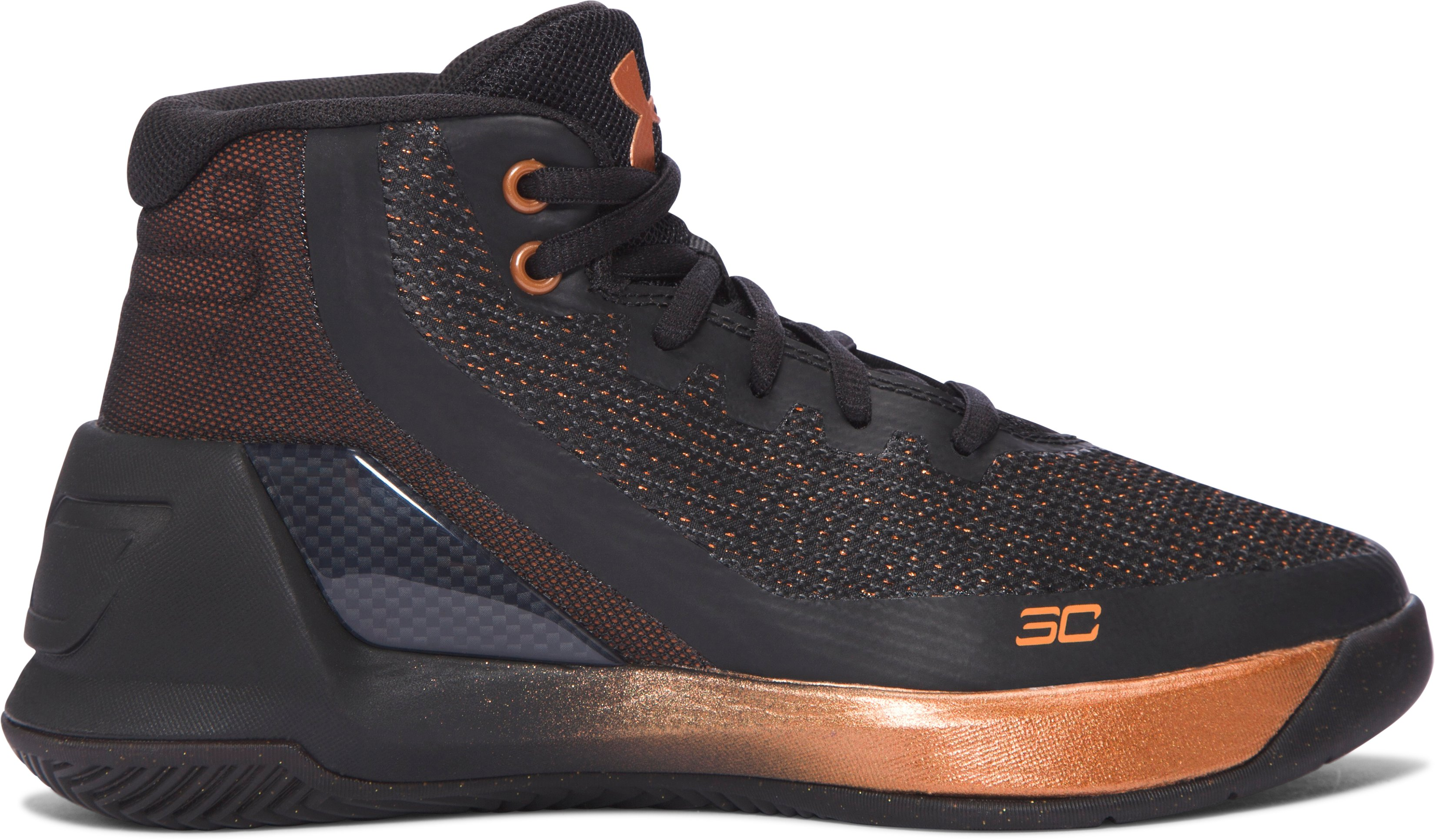 Pre-School UA Curry 3 ASW Basketball Shoes, BRASS BAND