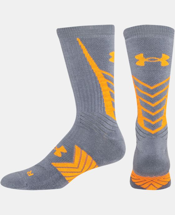 New Arrival  Men's UA Undeniable Crew Sock   1 Color $19.99