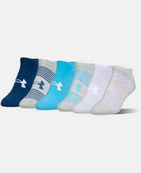 Women's UA Essential Mix 2.0 No Show Socks – 6-Pack  1 Color $22.99