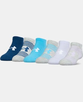 Kids' UA Essential Twist No Show Socks – 6-Pack  1 Color $18.99