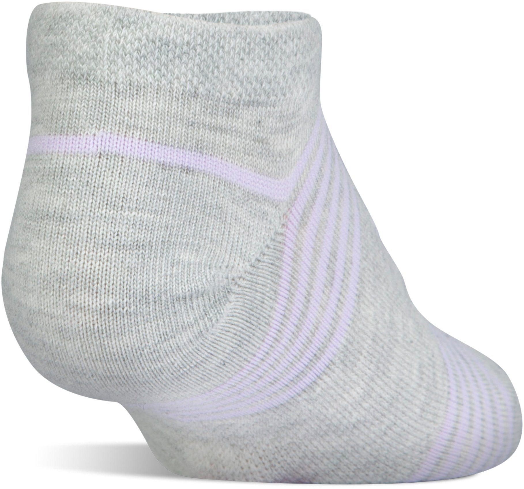 Kids' UA Essential Twist No Show Socks – 6-Pack, LAVENDER ICE