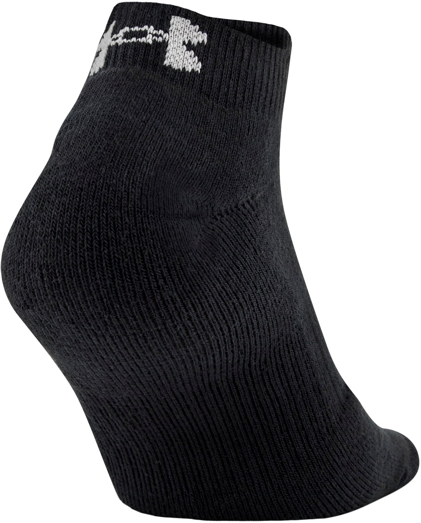 UA Charged Cotton® 2.0 Lo Cut Socks – 6-Pack, Black , undefined