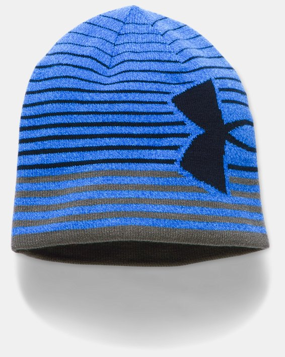 Boys' UA Billboard 2.0 Beanie, Blue, pdpMainDesktop image number 0