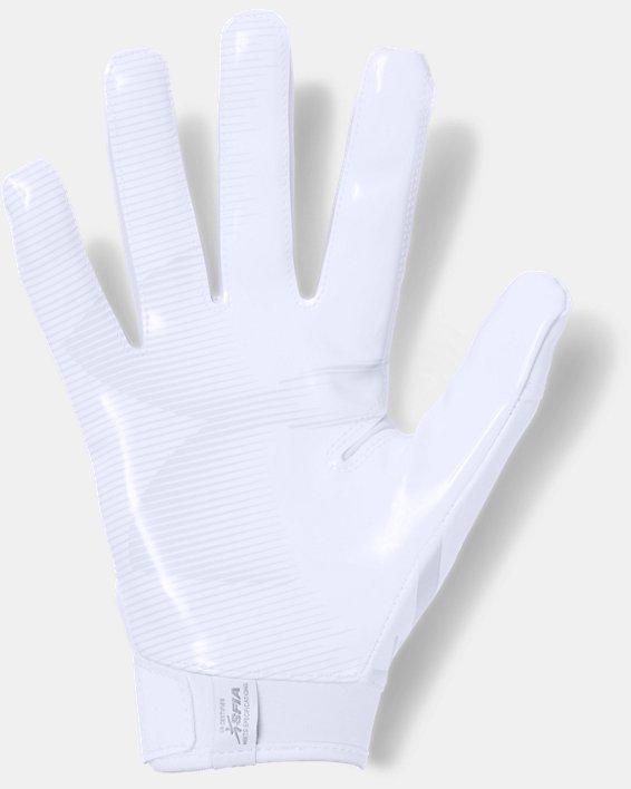 Men's UA F6 Football Gloves, White, pdpMainDesktop image number 1