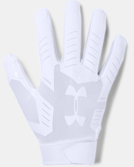 Men's UA F6 Football Gloves, White, pdpMainDesktop image number 0