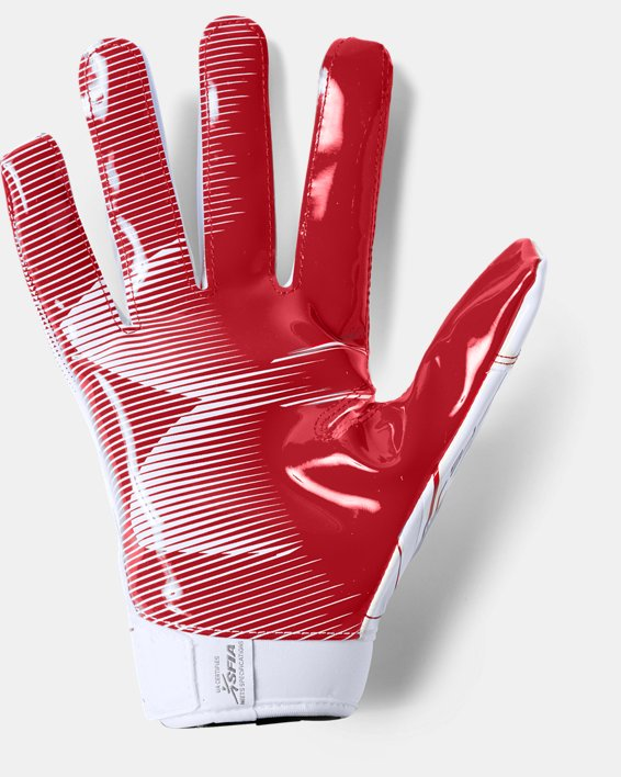 Men's UA F6 Football Gloves, White, pdpMainDesktop image number 1
