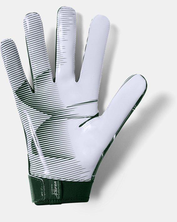 Men's UA F6 Football Gloves, Green, pdpMainDesktop image number 1