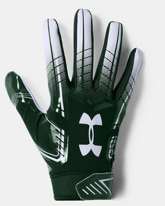 Men's UA F6 Football Gloves, Green, pdpMainDesktop image number 0