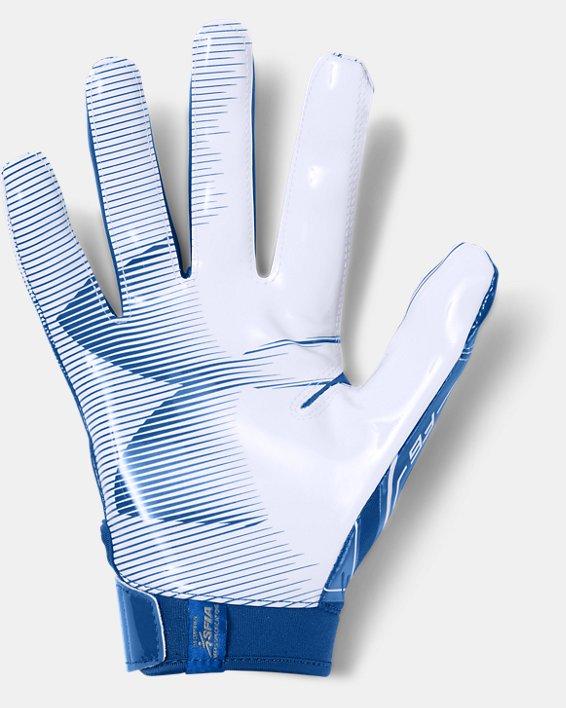 Men's UA F6 Football Gloves, Blue, pdpMainDesktop image number 1