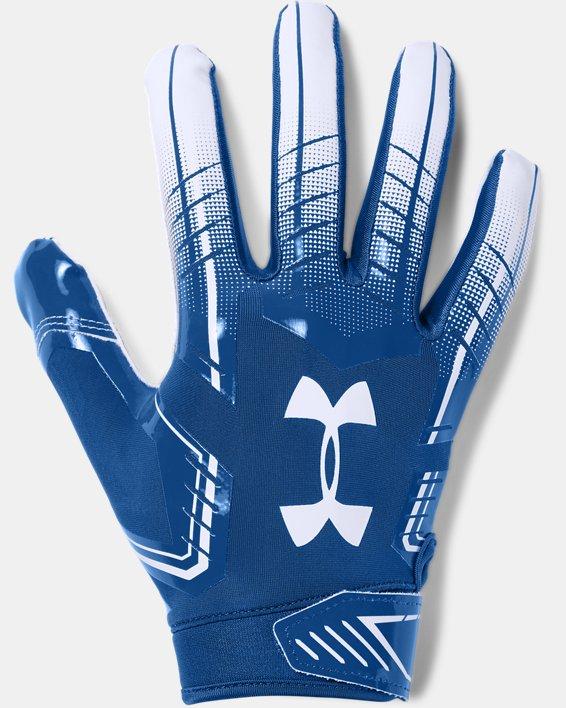 Men's UA F6 Football Gloves, Blue, pdpMainDesktop image number 0