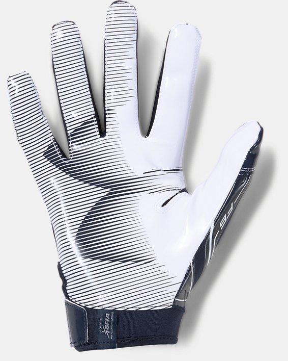 Men's UA F6 Football Gloves, Navy, pdpMainDesktop image number 1