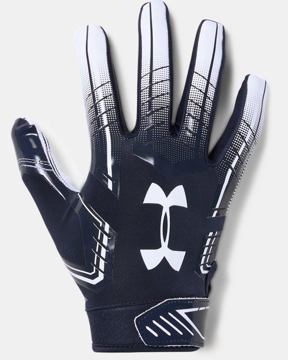 Men's UA F6 Football Gloves, Navy, pdpMainDesktop image number 0