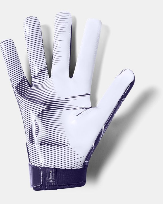 Men's UA F6 Football Gloves, Purple, pdpMainDesktop image number 1