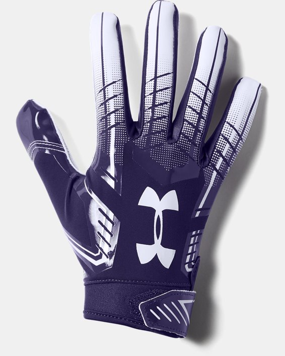 Men's UA F6 Football Gloves, Purple, pdpMainDesktop image number 0