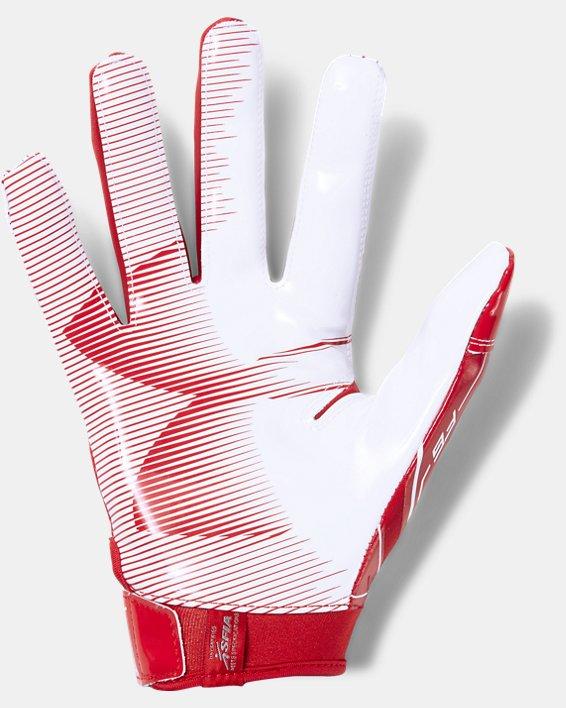 Men's UA F6 Football Gloves, Red, pdpMainDesktop image number 1