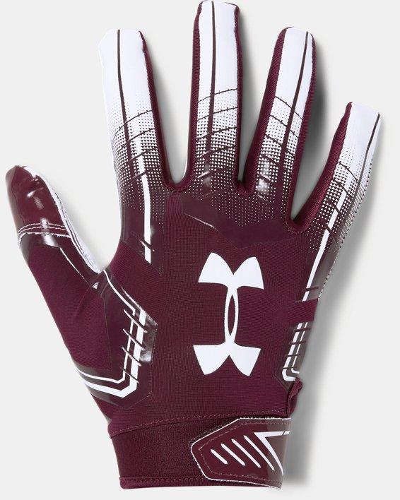 Men's UA F6 Football Gloves, Red, pdpMainDesktop image number 0