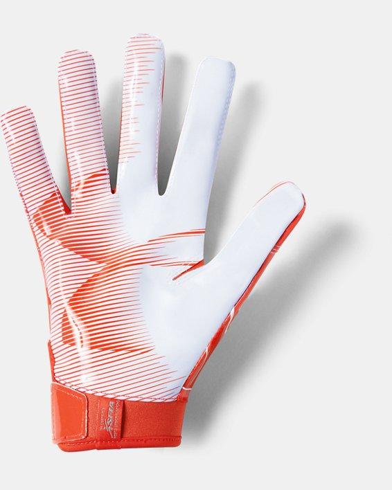 Men's UA F6 Football Gloves, Orange, pdpMainDesktop image number 1