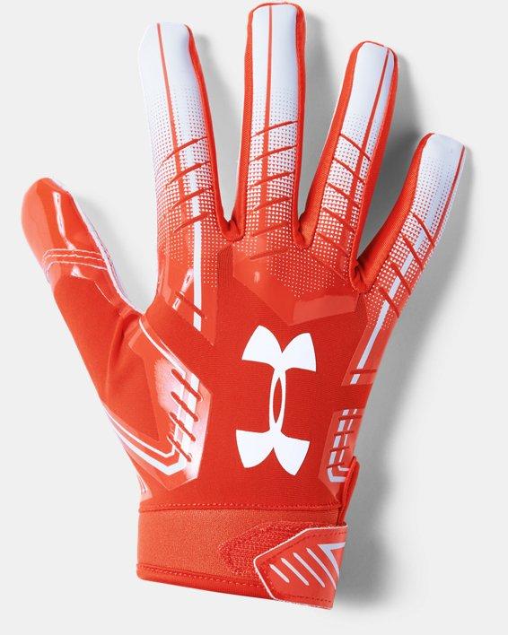 Men's UA F6 Football Gloves, Orange, pdpMainDesktop image number 0