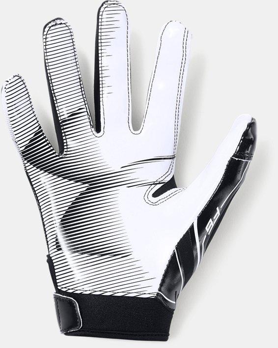Boys' UA F6 Football Gloves, Black, pdpMainDesktop image number 1