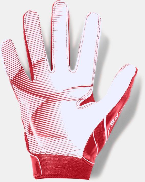 Boys' UA F6 Football Gloves, Red, pdpMainDesktop image number 1