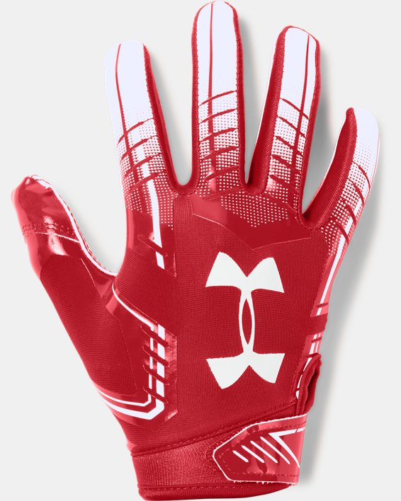 Boys' UA F6 Football Gloves, Red, pdpMainDesktop image number 0