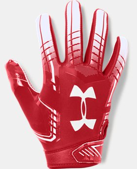 Boys' UA F6 Football Gloves FREE SHIPPING 11  Colors Available $25