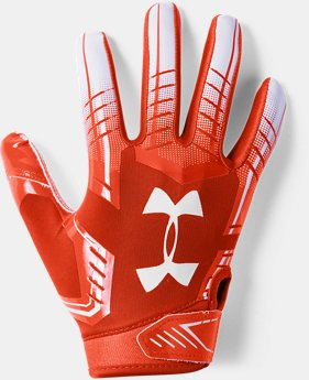 Boys' UA F6 Football Gloves FREE U.S. SHIPPING 3  Colors Available $25